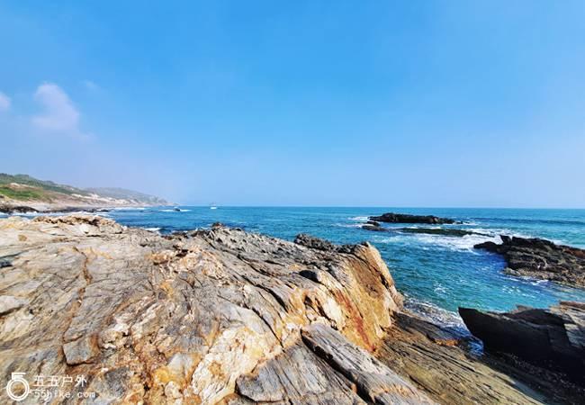 五五户外唯美海岸线 惠东黑排角穿越