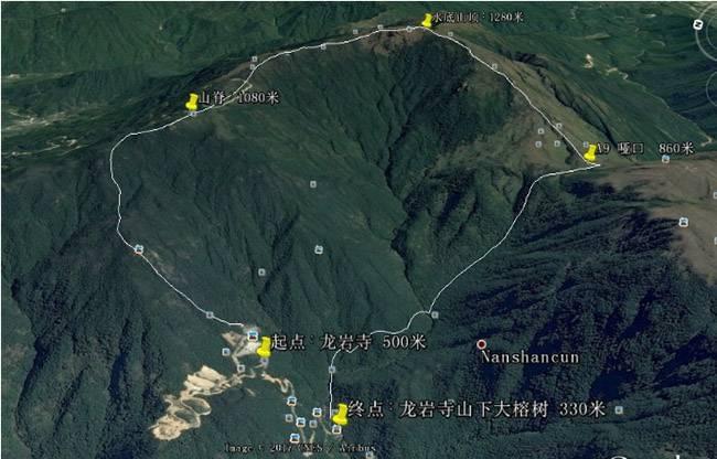 五五户外大南山非精华段水底山穿越