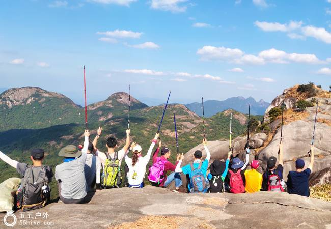 五五户外【高山奇石】勇登从化老虎头五指山穿越从化千米高峰连登