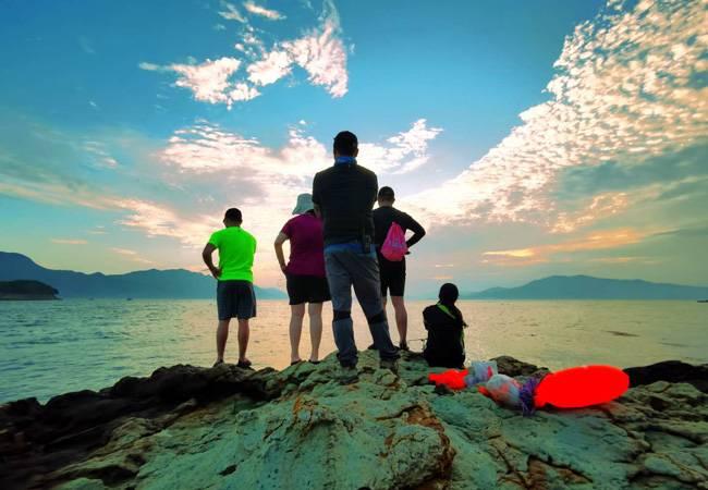 五五户外大甲岛浪漫之旅露营烧烤 赏海岛风光