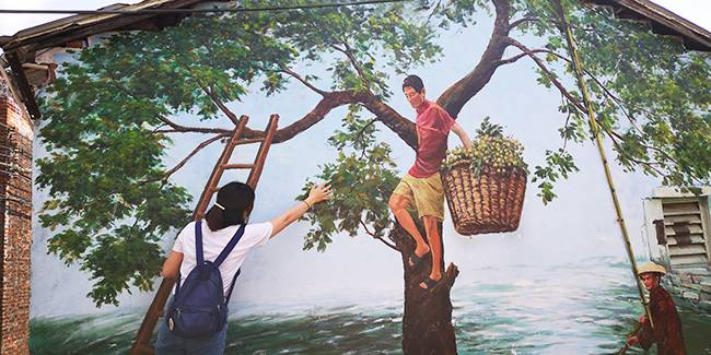 五五户外【新晋网红】童话世界彩虹村 疍家风情石板沙