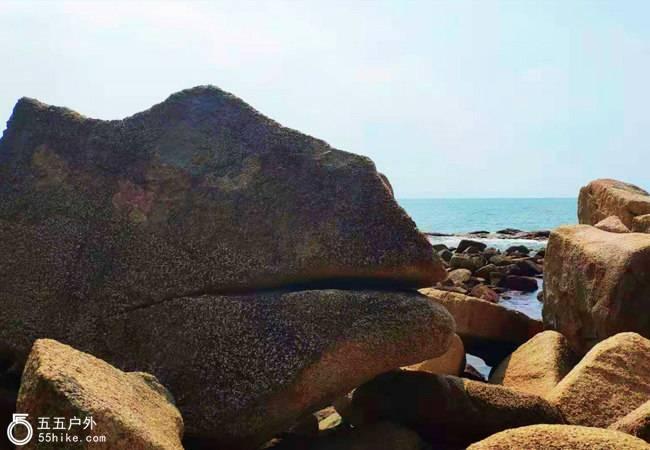 五五户外【大海雄狮】双月湾狮子岛海岸线穿越