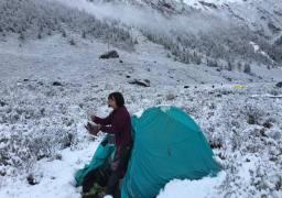 最美七藏沟,大雪而苦逼的给力的天气。完美。
